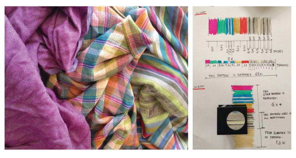 Kaschmirkollektion Multicheck & Stripes in der Entwicklung;