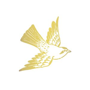 Cartolina Bird Gold