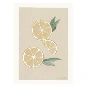 Kunstposter eines handgezeichneten Zitrone