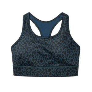 Schöner und ebenso praktischer Sport und Yoga Bra Renata mit Leoparden Muster